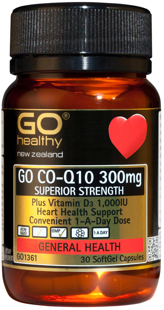 GO CO-Q10 300mg - Superior Strength (30 Caps)