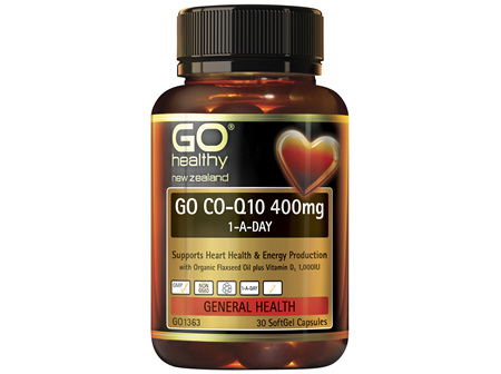 GO Co-Q10 400mg 1-A-Day 30 Caps