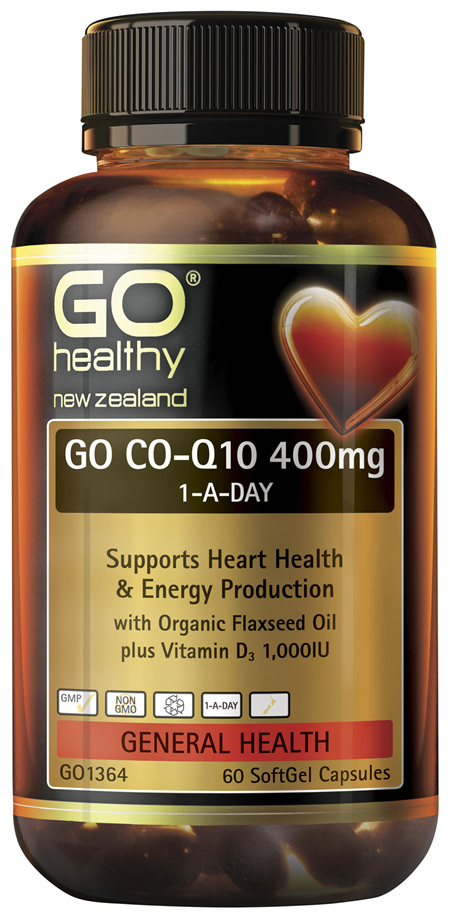 GO Co-Q10 400mg 1-A-Day 60 Caps