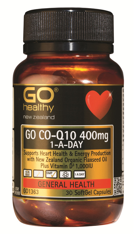 GO CO-Q10 400mg 1-A-DAY Maximum strength (30 Caps)