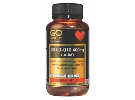 GO CO-Q10 400mg 1-A-DAY Maximum Strength (60 Caps)