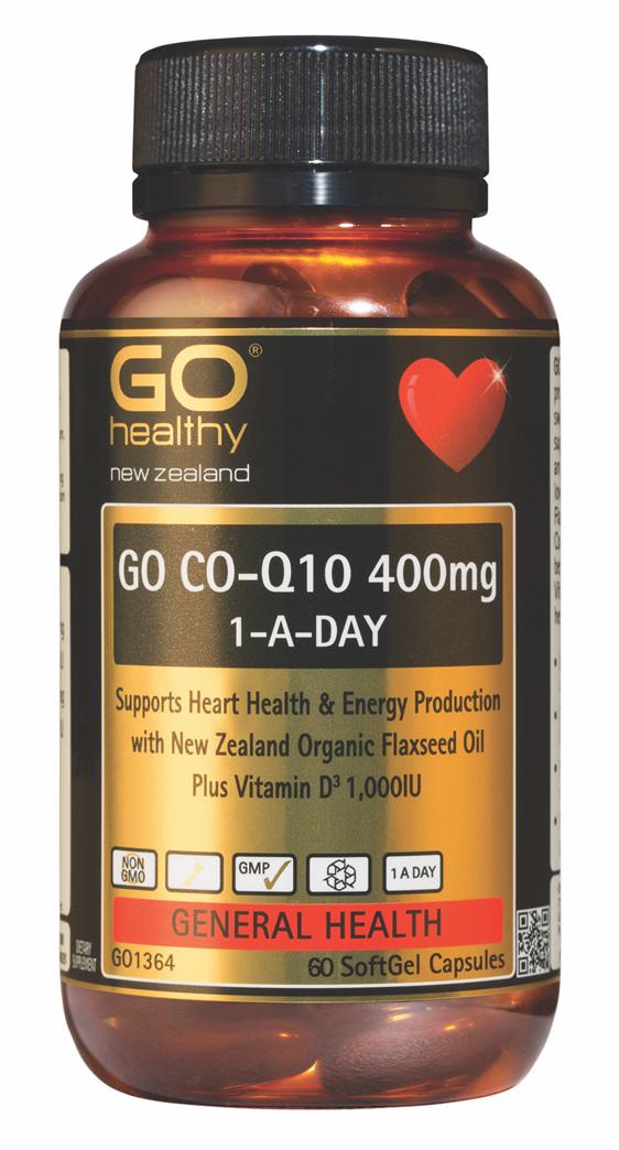 GO CO-Q10 400mg 1-A-DAY Maximum Strength (60 Caps)