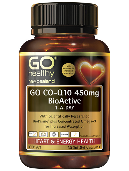 GO Co-Q10 450mg BioActive 1-A-Day 30 Caps