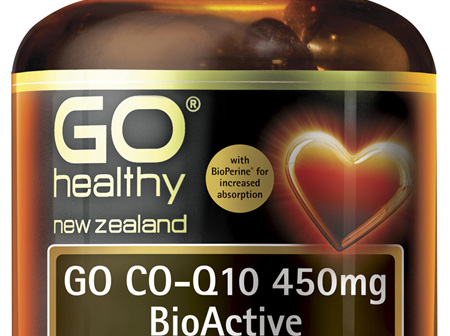 GO Co-Q10 450mg BioActive 1-A-Day 60 Caps
