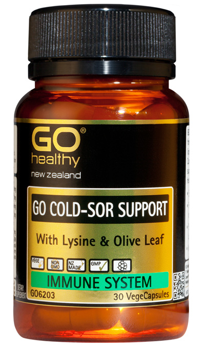 GO COLD-SOR SUPPORT - With Lysine & Olive Leaf (30 Vcaps)