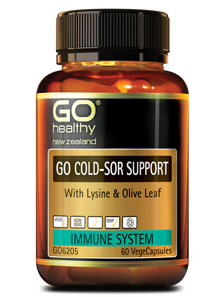 GO COLD-SOR SUPPORT - WITH LYSINE & OLIVE LEAF (60 VCAPS)