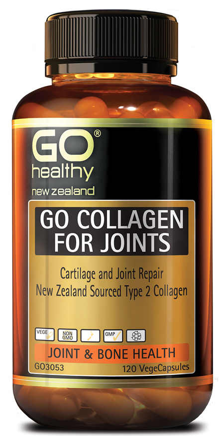 GO COLLAGEN FOR JOINTS - Cartilage Repair NZ Collagen (120 Vcaps)