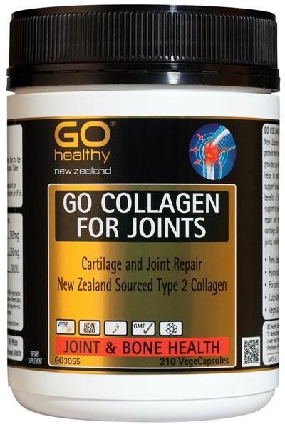 GO COLLAGEN FOR JOINTS - Cartilage Repair NZ Collagen (210 Vcaps)