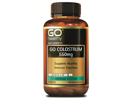 GO COLOSTRUM 550mg - Supports Healthy Immune Function (120 Vcaps)