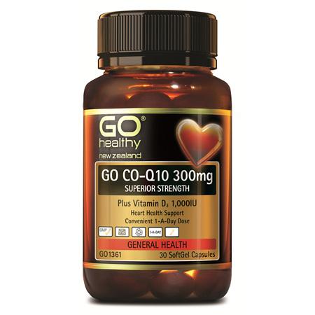 GO COQ10 300mg + VitD 30caps