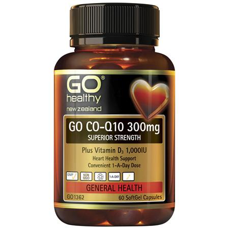 GO CoQ10 300mg + VitD 60caps