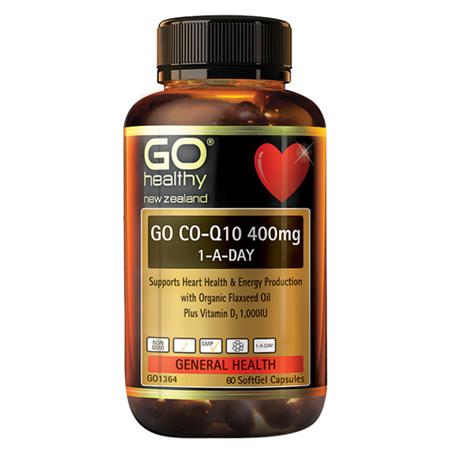 GO CoQ10 400mg 1-A-Day 100caps