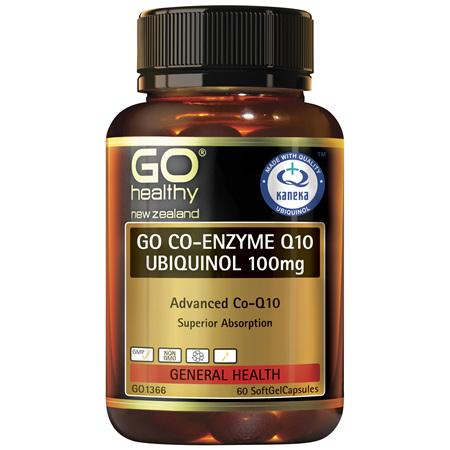 GO CoQ10 Ubiquinol 100mg 60caps