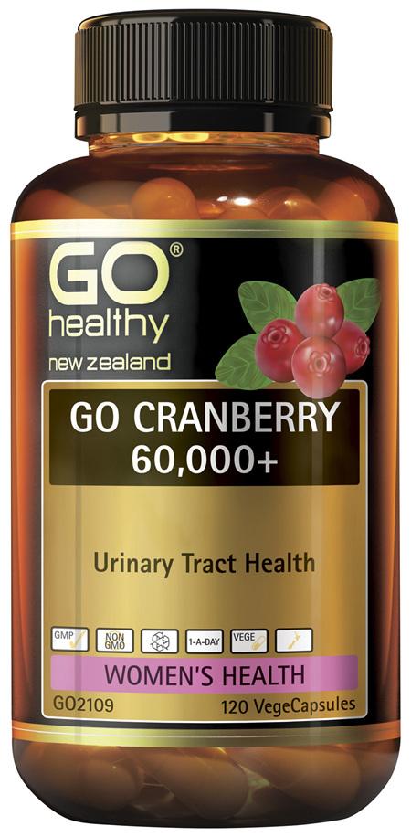 GO Cranberry 60,000+ 120 VCaps