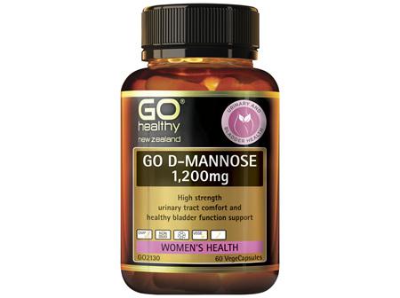 GO D-Mannose 1200mg 60 VCaps