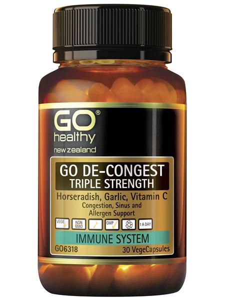 GO De-Congest Triple Strength 30 VCaps