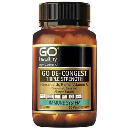 GO De-Congest Triple Strength 30vcaps