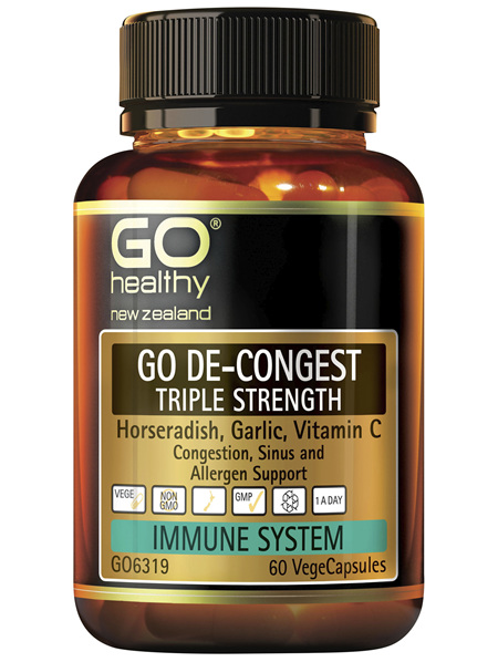 GO De-Congest Triple Strength 60 VCaps