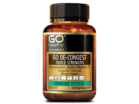GO DE-CONGEST TRIPLE STRENGTH - Congestion support (60 Vcaps)