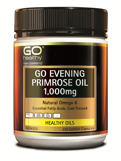 GO EVENING PRIMROSE OIL 1,000mg - Natural Omega 6 (220 caps)