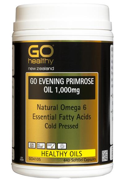 GO EVENING PRIMROSE OIL 1,000mg - Natural Omega 6 (440 caps)