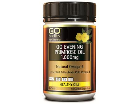 GO EVENING PRIMROSE OIL 1,000mg - Natural Omega 6 (90 caps)