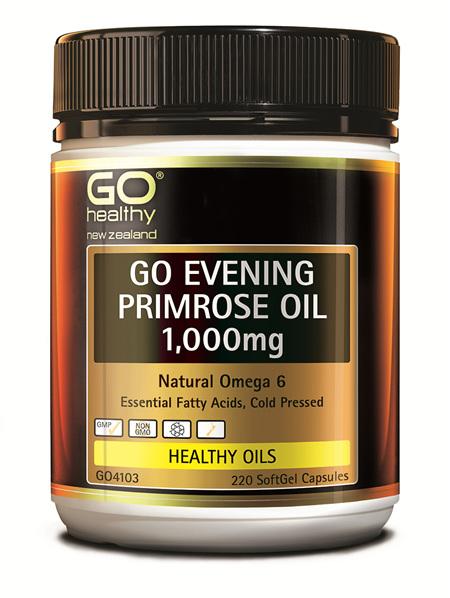 GO EVENING PRIMROSE OIL 1,000MG - NATURAL OMEGA 6 (220 CAPS)
