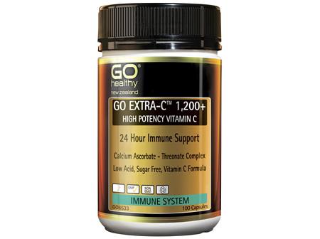 GO Extra-C 1,200+ 100 Caps