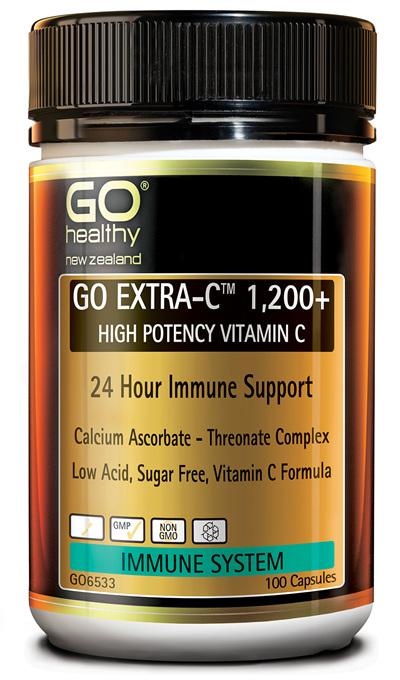 GO EXTRA-C™ 1200+ - High Potency Vitamin C (100 caps)