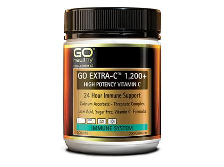GO EXTRA-C™ 1200+ - HIGH POTENCY VITAMIN C (200 CAPS)