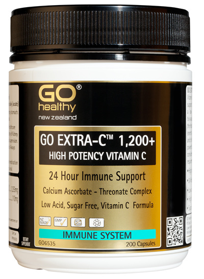 GO EXTRA-C™ 1200+ - High Potency Vitamin C (200 caps)