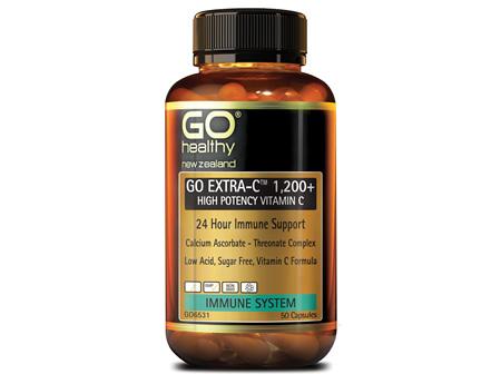 GO EXTRA-C™ 1200+ - High Potency Vitamin C (50 caps)