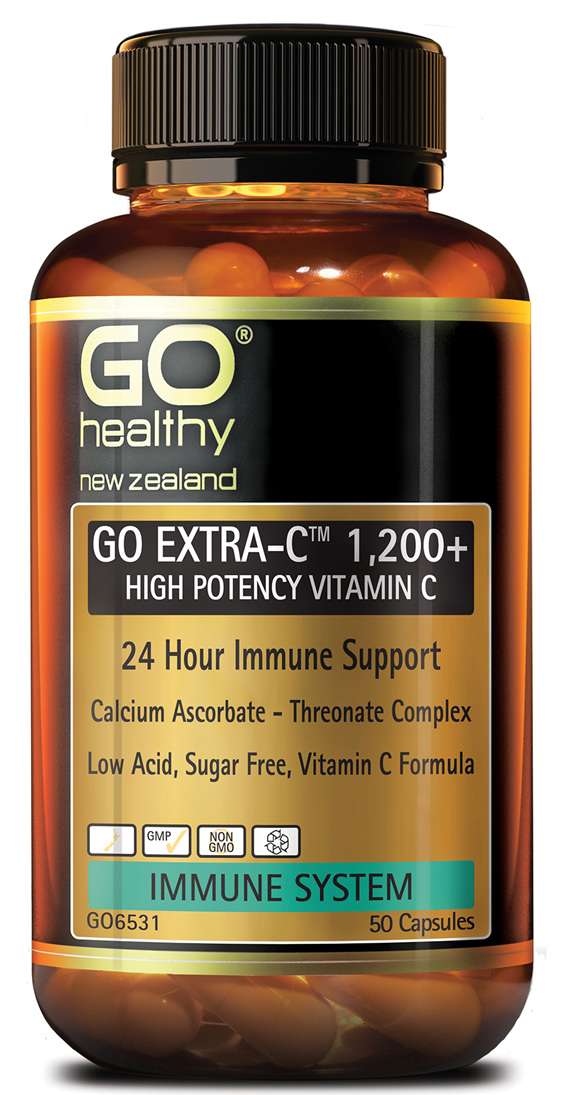 GO EXTRA-C™ 1200+ - High Potency Vitamin C (50 caps)