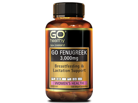 GO FENUGREEK 3,000mg - Breastfeeding and Lactation Support (120 Vcaps)
