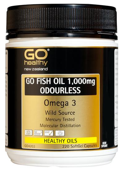 GO FISH OIL 1,000mg ODOURLESS - Omega 3 (220 caps)