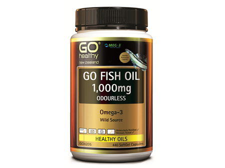 GO FISH OIL 1,000mg ODOURLESS - Omega 3 (440 caps)