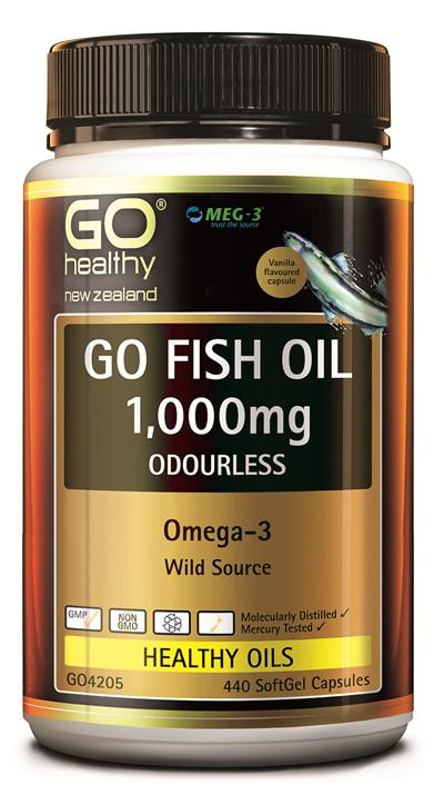 GO FISH OIL 1,000mg ODOURLESS - Omega 3 (440 caps)