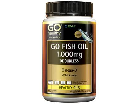GO Fish Oil 1,000mg Odourless 440 Caps