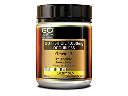 GO FISH OIL 1,000mg ODOURLESS - Omega 3 (220 caps)