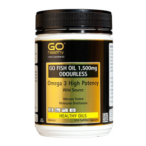 GO Fish Oil 1500mg Odourless 210cap
