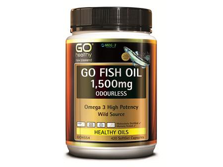 GO FISH OIL 1,500MG ODOURLESS - HIGH POTENCY OMEGA 3 (420 CAPS)