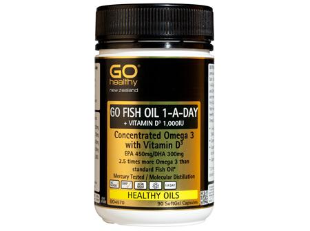 GO FISH OIL 1,500mg ODOURLESS - High Potency Omega 3 (90 caps)