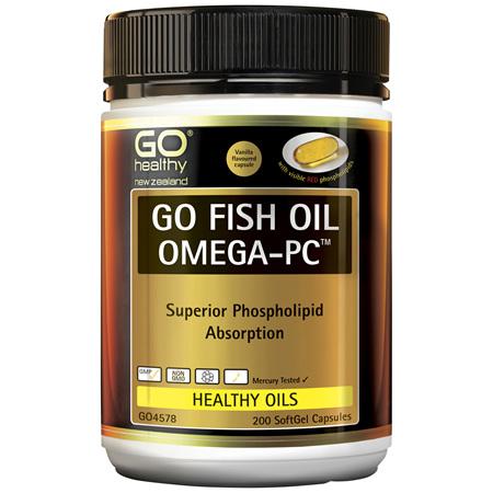 GO Fish Oil 1550mg Advanced Omega PC 200