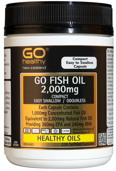 GO FISH OIL 2,000mg - Compact (230 caps)