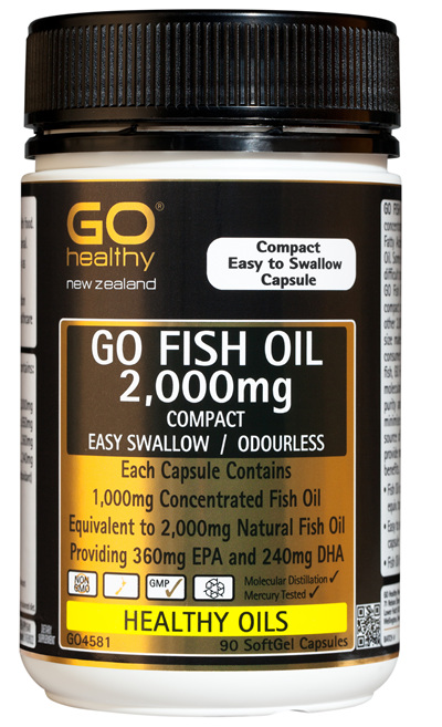 GO FISH OIL 2,000mg - Compact (90 caps)
