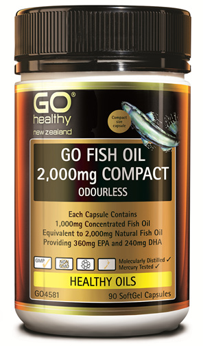 GO FISH OIL 2,000mg - Compact (90 caps)