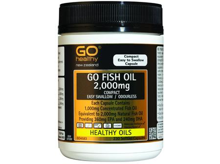 GO Fish Oil 2000 mg Odourless 230 caps