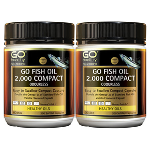 GO Fish Oil 2,000mg Compact 2 x 200 Caps