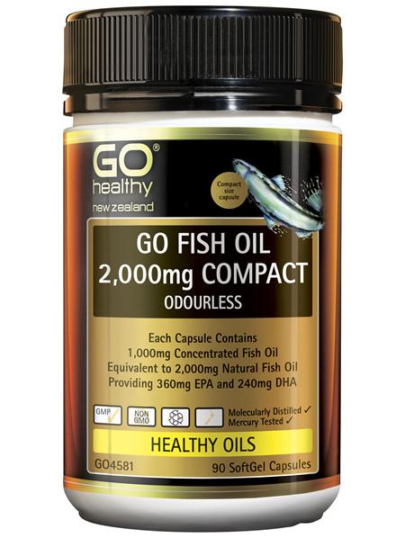 GO Fish Oil 2000mg Compact 90 Caps