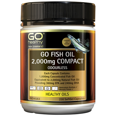 GO Fish Oil 2,000mg Compact Odourless 230 Caps